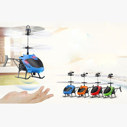 Infant/Children - Mini RC Infrared Induction Helicopter Aircraft Flashing Light Toys Kids