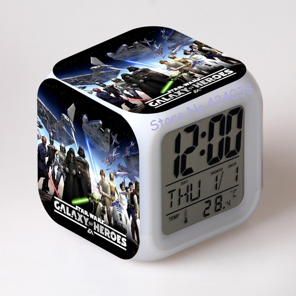 Star Wars Alarm Clocks Digital Watch Led Color Changing Innovative