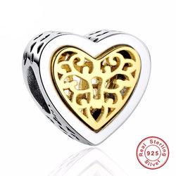 Jewelry - 925 Sterling Silver Heart Charms - Fit Original Pandora Bracelet Necklace Pendant