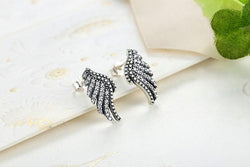 Jewelry - Authentic 100% 925 Sterling Silver Majestic Feathers Phoenix-Wing Stud Earrings