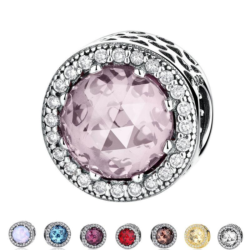 Authentic Sterling Silver 925 Radiant Hearts, Blush Pink Crystal & Clear CZ  Charm Pandora Bracelet