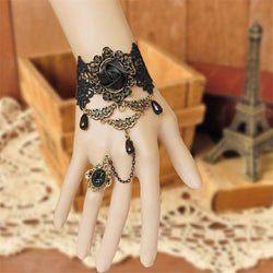 Jewelry - Black Rose Design National Characteristics Finger Finger Bracelet