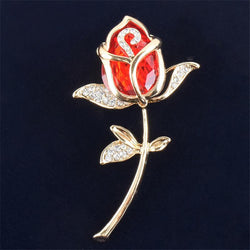 Jewelry - Crystal Rose Brooch