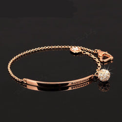 Jewelry - CZ Diamond Ball Fashion Party Charm Bracelets & Bangles Rose Gold Plated Crystal
