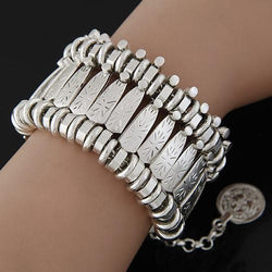 Jewelry - Ethnic Bohemian Beachy Turkish Gypsy Tribal Silver Coin Bracelet