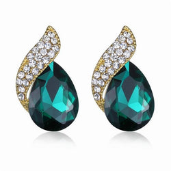 Jewelry - Fashion Inlaid Crystal Earrings