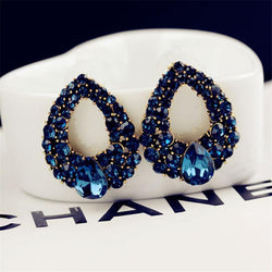 Jewelry - High-end Boutique Droplets Sapphire Earrings