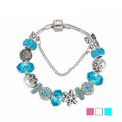 Jewelry - Snowflake Charm Bracelet & Bangle European Beads Bracelet