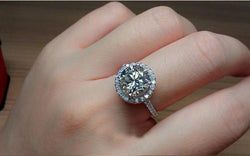 Jewelry - Vintage Engagement White Gold Filled Fashion CZ Diamond Rings