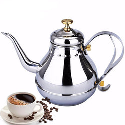 Kitchen - 1.2L&1.8L Coffee Kettle Silver Stainless Steel Coffee Kettle Teapot Small Mouth Pot Tea Coffee Drip Kettle Water Pot