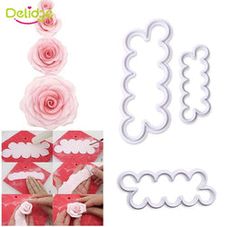 Kitchen - 3pcs/set Rose Flower Cookie Cutter Cake Decorating Tool