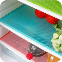 Kitchen - 4 Pcs/set 30cm*44cm Refrigerator Antibacterial Mildew Moistureproof Refrigerator Waterproof Mats