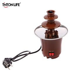 Kitchen - Creative Design Mini Chocolate Fountain Fondue Machine - Chocolate Melts With Heating