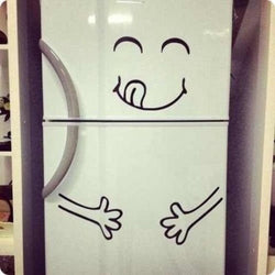 Kitchen - Cute Fridge Sticker Happy Yummy Face - Wall Decals Home Decor