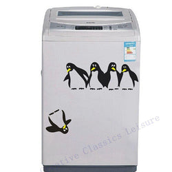 Kitchen - Fun Penguin Kitchen Fridge Wall Stickers / Decals - Home Decor