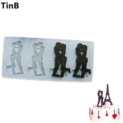 Kitchen - Gift Lover Couple Shape Silicone Chocolate Cake Mold / Form