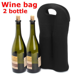 Kitchen - Insulated Wine Bottle Holder Cooler Travel Carrier Tote - (Carries 2 Bottles)