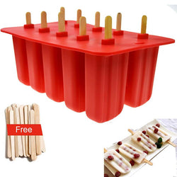 Kitchen - Silica Gel Ice Cream Popsicle Mold Ice Tray