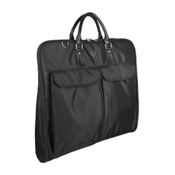 Luggage - Waterproof Black Zipper Garment Bag Travel Bag For Suit With Hanger Clamp
