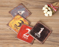 Man Cave - Set Of 4 10x10cm Vintage Bar Coaster Table Cup Holder Drink Placemats