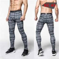 Men Accents - 3D Camouflage Leggings Compression Crossfit Trousers (Size: L)