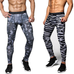 Men Accents - 3D Camouflage Leggings Compression Crossfit Trousers (Size: S)