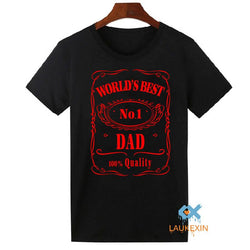Men Accents - Fathers Day T-Shirt Worlds Best Number 1 Dad  - Plus Size