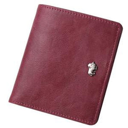 Men Accents - Genuine Leather Small Thin Card/Coin Holder Slim Mini Zipper Wallet
