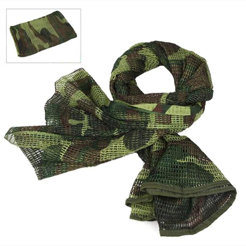 Military Camouflage Tactical Mesh Breathable Sniper Face Veil Scarves (8  colors) 55cf2ca6bfa7