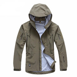 Men Accents - Military Hardshell Camouflage Army Autumn Weight Windbreaker Jacket/Coat