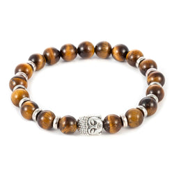 Men Accents - Natural Stone Buddha Beads Bracelets For Women / Men
