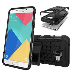 Mobile Devices - DualLayer Hard Plastic Shockproof Stand Phone Cover For Samsung A3 Case