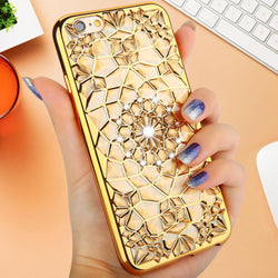 Mobile Devices - High Quality Diamond Skin Covers For IPhone 6 6s 6 Plus 6s Plus With Electroplating Soft Back Cover