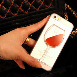 Mobile Devices - Liquid Red Wine Glass Transparent Hard Back Cover