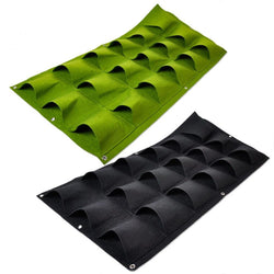 Outdoor - 18 Pockets Green Grow Bag Planter Vertical Garden Vegetable Living Garden Bag