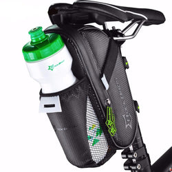 Outdoor - Bicycle Saddle Bag With Water Bottle Pocket - Waterproof