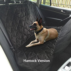 Pets - Pet Car Rear Bench Back Seat Cover Mat - Waterproof Hammock Style And Back Cover