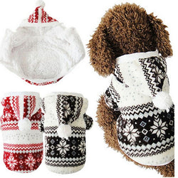 Pets - Soft Winter Warm Pet Clothes - Cozy Snowflake Jacket Teddy Hoodie Coat
