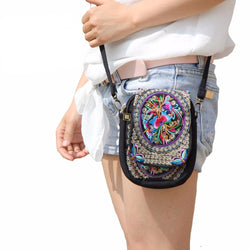 Purses/Wallets - Boho Ethnic Vintage Embroidered Canvas Cover Shoulder Messenger Bags (Unisex)