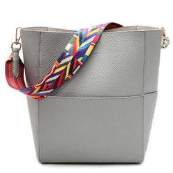 Purses/Wallets - Designer Vintage Satchel Pu Leather Gray Cross Body Shoulder Bags