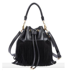 Purses/Wallets - Small Bucket Tassels Genuine Leather Messenger Bag