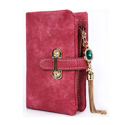 Purses/Wallets - Vintage Tassel Short Matte Ladies Wallet