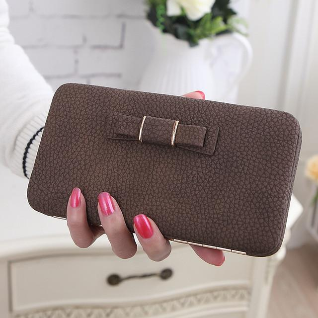 Women Long Purse Hasp Design Female Cell Phone Wallets   Clutches ... dfe6435091