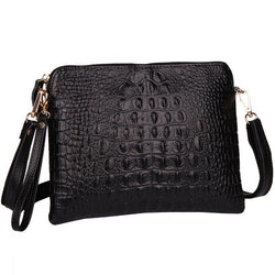 Purses/Wallets - Women Shoulder Leather Alligator Evening Clutch Bag