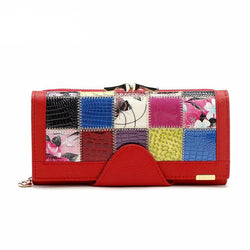 Purses/Wallets - Women Wallet Genuine Leather Patchwork Purse