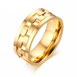 Rings (m) - Classic Gold/Silver Color 9mm Gent's Party Ring