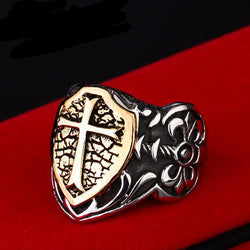 Rings (m) - Stainless Steel Knights Ring