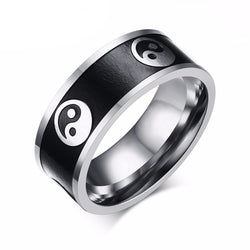 Rings (m) - Vintage Style Stainless Steel Chinese Taoism Taiji Rings For Men