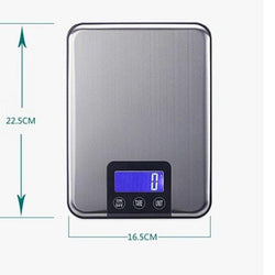 Scales - 15KG 1g Digital Kitchen Scale - Diet Weight Slim Stainless Steel Electronic Scales Touch Button