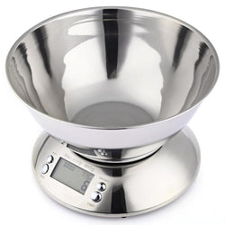 Scales - Stainless Steel Electronic Weight Scale Food Cuisine Precision Kitchen Scales With Bowl (5kg 1g)